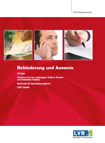 Behinderung und Ausweis - zur Zeit leider vergriffen und nur als Download verfügbar